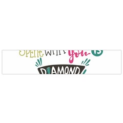 My Every Moment Spent With You Is Diamond To Me / Diamonds Hearts Lips Pattern (white) Flano Scarf (small) by FashionFling