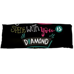 My Every Moment Spent With You Is Diamond To Me / Diamonds Hearts Lips Pattern (black) Body Pillow Case Dakimakura (two Sides) by FashionFling