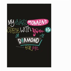 My Every Moment Spent With You Is Diamond To Me / Diamonds Hearts Lips Pattern (black) Small Garden Flag (two Sides) by FashionFling