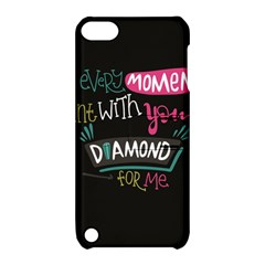 My Every Moment Spent With You Is Diamond To Me / Diamonds Hearts Lips Pattern (black) Apple Ipod Touch 5 Hardshell Case With Stand by FashionFling