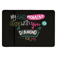My Every Moment Spent With You Is Diamond To Me / Diamonds Hearts Lips Pattern (black) Samsung Galaxy Tab 8 9  P7300 Flip Case by FashionFling