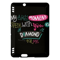 My Every Moment Spent With You Is Diamond To Me / Diamonds Hearts Lips Pattern (black) Kindle Fire Hdx Hardshell Case by FashionFling