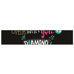 My Every Moment Spent With You Is Diamond To Me / Diamonds Hearts Lips Pattern (black) Flano Scarf (small) by FashionFling