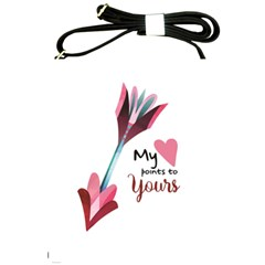 My Heart Points To Yours / Pink And Blue Cupid s Arrows (white) Shoulder Sling Bags by FashionFling