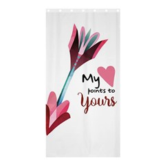 My Heart Points To Yours / Pink And Blue Cupid s Arrows (white) Shower Curtain 36  X 72  (stall)  by FashionFling