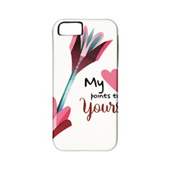 My Heart Points To Yours / Pink And Blue Cupid s Arrows (white) Apple Iphone 5 Classic Hardshell Case (pc+silicone) by FashionFling