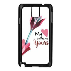 My Heart Points To Yours / Pink And Blue Cupid s Arrows (white) Samsung Galaxy Note 3 N9005 Case (black) by FashionFling