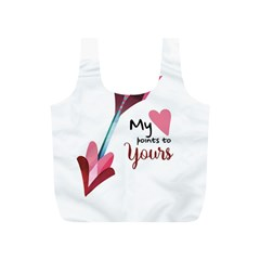 My Heart Points To Yours / Pink And Blue Cupid s Arrows (white) Full Print Recycle Bags (s)  by FashionFling