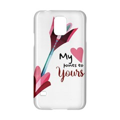 My Heart Points To Yours / Pink And Blue Cupid s Arrows (white) Samsung Galaxy S5 Hardshell Case  by FashionFling