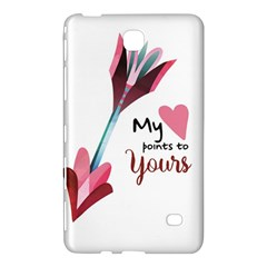 My Heart Points To Yours / Pink And Blue Cupid s Arrows (white) Samsung Galaxy Tab 4 (8 ) Hardshell Case  by FashionFling