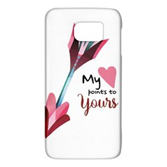 My Heart Points To Yours / Pink And Blue Cupid s Arrows (white) Galaxy S6 by FashionFling