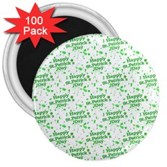 Saint Patrick Motif Pattern 3  Magnets (100 Pack) by dflcprints