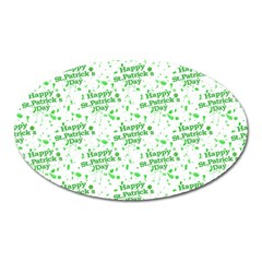 Saint Patrick Motif Pattern Oval Magnet by dflcprints