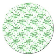 Saint Patrick Motif Pattern Magnet 5  (round) by dflcprints
