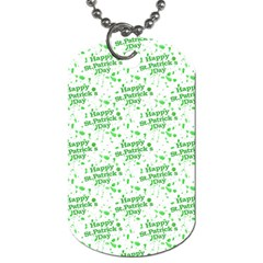 Saint Patrick Motif Pattern Dog Tag (two Sides) by dflcprints