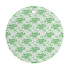 Saint Patrick Motif Pattern Round Ornament (two Sides) by dflcprints