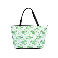 Saint Patrick Motif Pattern Shoulder Handbags by dflcprints