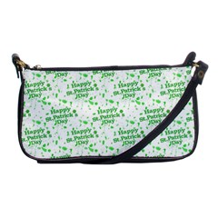 Saint Patrick Motif Pattern Shoulder Clutch Bags by dflcprints