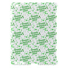 Saint Patrick Motif Pattern Apple iPad 3/4 Hardshell Case (Compatible with Smart Cover)