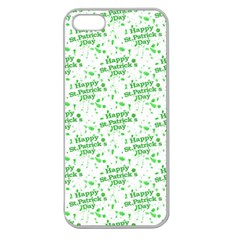 Saint Patrick Motif Pattern Apple Seamless iPhone 5 Case (Clear)