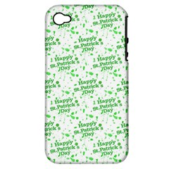 Saint Patrick Motif Pattern Apple iPhone 4/4S Hardshell Case (PC+Silicone)