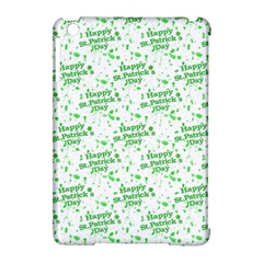 Saint Patrick Motif Pattern Apple iPad Mini Hardshell Case (Compatible with Smart Cover)