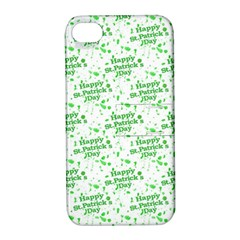 Saint Patrick Motif Pattern Apple iPhone 4/4S Hardshell Case with Stand
