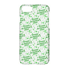 Saint Patrick Motif Pattern Apple Iphone 7 Hardshell Case by dflcprints