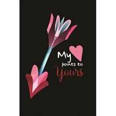 My Heart Points To Yours / Pink And Blue Cupid s Arrows (black) 5 5  X 8 5  Notebooks by FashionFling