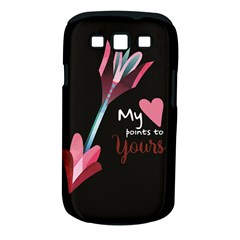 My Heart Points To Yours / Pink And Blue Cupid s Arrows (black) Samsung Galaxy S Iii Classic Hardshell Case (pc+silicone) by FashionFling