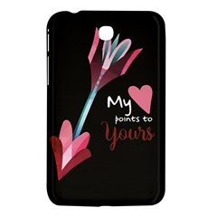 My Heart Points To Yours / Pink And Blue Cupid s Arrows (black) Samsung Galaxy Tab 3 (7 ) P3200 Hardshell Case  by FashionFling