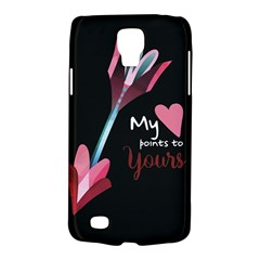 My Heart Points To Yours / Pink And Blue Cupid s Arrows (black) Galaxy S4 Active by FashionFling