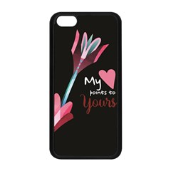 My Heart Points To Yours / Pink And Blue Cupid s Arrows (black) Apple Iphone 5c Seamless Case (black) by FashionFling