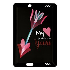 My Heart Points To Yours / Pink And Blue Cupid s Arrows (black) Amazon Kindle Fire Hd (2013) Hardshell Case by FashionFling