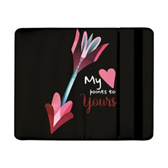 My Heart Points To Yours / Pink And Blue Cupid s Arrows (black) Samsung Galaxy Tab Pro 8 4  Flip Case by FashionFling