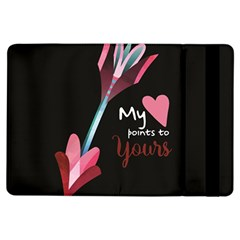 My Heart Points To Yours / Pink And Blue Cupid s Arrows (black) Ipad Air Flip by FashionFling