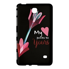 My Heart Points To Yours / Pink And Blue Cupid s Arrows (black) Samsung Galaxy Tab 4 (8 ) Hardshell Case  by FashionFling