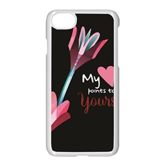 My Heart Points To Yours / Pink And Blue Cupid s Arrows (black) Apple Iphone 7 Seamless Case (white) by FashionFling