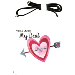 You Are My Beat / Pink And Teal Hearts Pattern (white)  Shoulder Sling Bags by FashionFling
