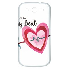 You Are My Beat / Pink And Teal Hearts Pattern (white)  Samsung Galaxy S3 S Iii Classic Hardshell Back Case by FashionFling
