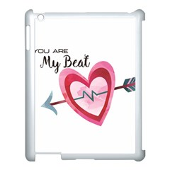 You Are My Beat / Pink And Teal Hearts Pattern (white)  Apple Ipad 3/4 Case (white) by FashionFling