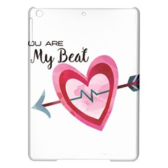 You Are My Beat / Pink And Teal Hearts Pattern (white)  Ipad Air Hardshell Cases by FashionFling