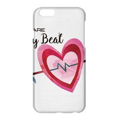 You Are My Beat / Pink And Teal Hearts Pattern (white)  Apple Iphone 6 Plus/6s Plus Hardshell Case