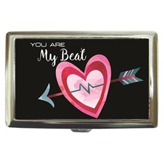 You Are My Beat / Pink And Teal Hearts Pattern (black)  Cigarette Money Cases by FashionFling