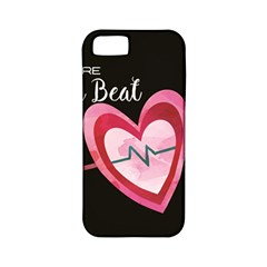 You Are My Beat / Pink And Teal Hearts Pattern (black)  Apple Iphone 5 Classic Hardshell Case (pc+silicone) by FashionFling