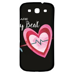 You Are My Beat / Pink And Teal Hearts Pattern (black)  Samsung Galaxy S3 S Iii Classic Hardshell Back Case by FashionFling