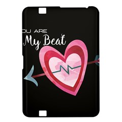 You Are My Beat / Pink And Teal Hearts Pattern (black)  Kindle Fire Hd 8 9  by FashionFling
