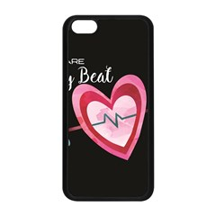 You Are My Beat / Pink And Teal Hearts Pattern (black)  Apple Iphone 5c Seamless Case (black) by FashionFling