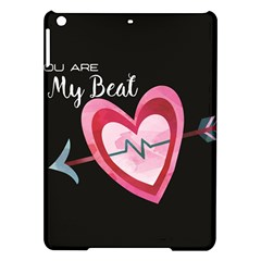 You Are My Beat / Pink And Teal Hearts Pattern (black)  Ipad Air Hardshell Cases by FashionFling