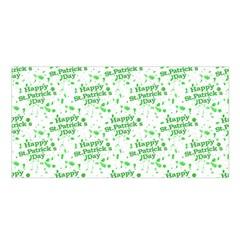Saint Patrick Motif Pattern Satin Shawl by dflcprintsclothing